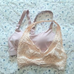 2 bras Old Navy and Aerie XS
